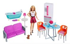 """Introduce your little one to an American icon with an item from the Toys""""R""""Us Barbie store. Browse a large variety of Barbie stuff, from dolls to dress-up, ride-ons, and more. New Barbie Dolls, Barbie Sets, Baby Barbie, Barbie Doll House, Barbie Dream House, Barbie Clothes, Barbie Store, Dreamhouse Barbie, Barbie Playsets"""