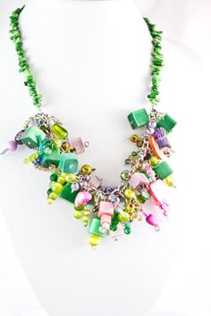 The funky garden by ZinaJewelry on Etsy, $60.00