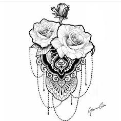 tattoo - mandala - art - design - line - henna - hand - back - sketch - doodle - girl - tat - tats - ink - inked - buddha - spirit - rose - symetric - etnic - inspired - design - sketch Tattoo Stencil Designs, Hip Tattoo Designs, Floral Tattoo Design, Tattoo Stencils, Flower Tattoo Designs, Girl Arm Tattoos, Time Tattoos, Skull Tattoos, Body Art Tattoos