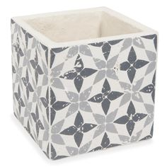 Cache-pot en ciment H 15 cm HAIFA