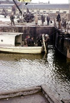 Earl Grey Dock | Dundee City Archives | Flickr Dundee City, Earl Gray, Great Britain, Old Photos, Scotland, 1960s, Boat, History, Street