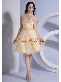Beading Decorate Bodice A-line Light Yellow Taffeta and Organza 2013 Prom Dress- $121.06  http://www.fashionos.com     | homecoming dress magazine | wholesale dama dresses | best seller celebrity dresses | eye catching cocktail gowns |