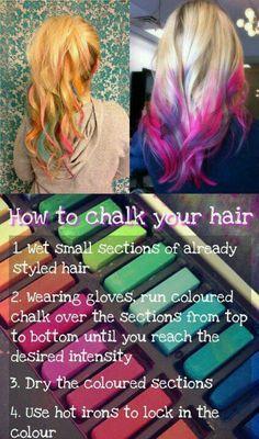 DIY: Color Your Hair w/ Chalk.