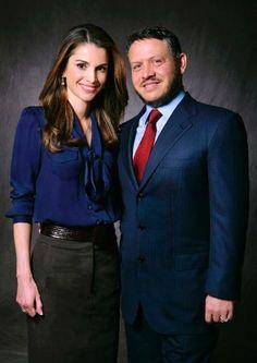 Queen Rania of Jordan. The look of a modern working woman.