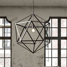Electra Ceiling Lamp Large *     Classic triangular forms create the beautiful symmetry of the Electra ceiling lamp. Constructed of sturdy steel in an industrial finish with an aged patina. One 40w bulb included. The lamp is UL approved.    Materials or Fiber Content: Metal * $599.99