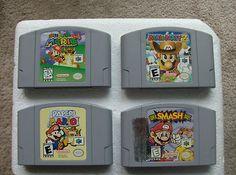 Super Mario 64, Mario Party 2, Paper Mario, Super Smash Bros. Free Shipping!