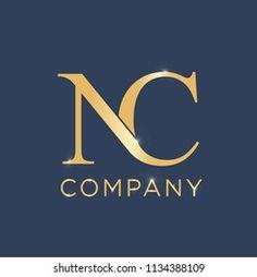 Nc Logo, Black Tights Outfit, Black Art Tattoo, Hand Lettering Alphabet, Letter Vector, Gold Stock, Logo Design Template, Logo Images, Lettering Design
