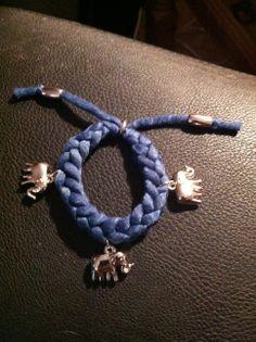 Armband gemaakt met een breivork