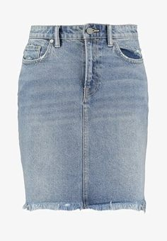 AllSaints KIM - Denim skirt - light indigo blue