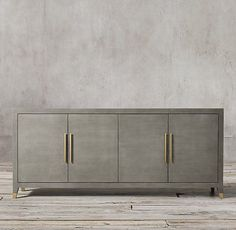 RH& Graydon Shagreen Panel Sideboard:Designed by Geoffrey Hawkes, ou. Furniture Vanity, Kitchen Furniture, Furniture Design, Furniture Ideas, Side Board, Modern Shop, Sideboard Buffet, Dining Room Sideboard, Console Tables