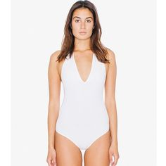 American Apparel - Halter Bodysuit Cotton Spandex Jersey Halter One Piece - Color: White - Size: Small. NWT and never worn! American Apparel Other