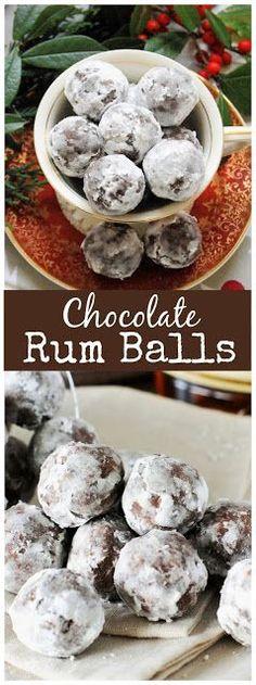 Chocolate Rum Balls with Spiced Rum ~ a Christmas classic! #Christmas #Christmascookies #rumballs www.thekitchenismyplayground.com