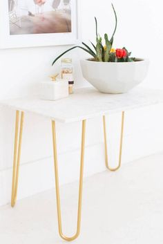24 easy and inexpensive marble contact paper DIY projects. Discover decor, furniture, and entertaining DIYs that require marble-printed contact paper and a bit of imagination. For more DIY inspiration, visit domino.com.