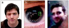 Identifiable images of bystanders extracted from corneal reflections