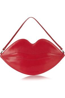 Red lips leather clutch!