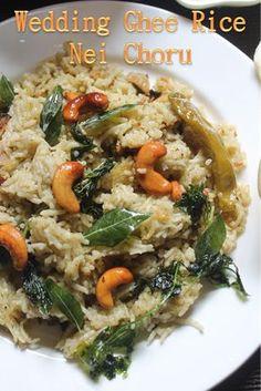 YUMMY TUMMY: Perfect Ghee Rice Recipe - South Indian Wedding Style Nei Choru Recipe