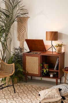 Archie Media Console in Brown | Urban Outfitters #recordcabinet #vinyl #records #affiliate