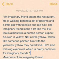 Memoir of an Imaginary Friend