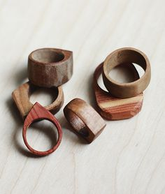 #diy wood rings - cool!