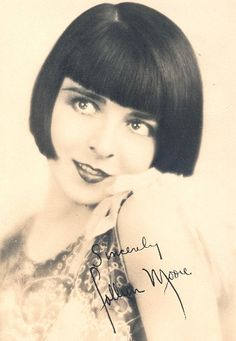 Colleen Moore pre-printed autograph mailed to fans