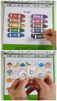 Here is our preschool activity binder that is so much fun for learning about the alphabet, math, shapes, colors and so much more for preschoolers and for kids. Perfect quiet book for on the go, in a school setting or homeschooling preschoolers. English Activities For Kids, Toddler Learning Activities, Preschool Learning Activities, Preschool Lessons, Shapes For Preschool, Preschool Binder, Fun Activities For Preschoolers, Shapes For Kids, Printable Activities For Kids