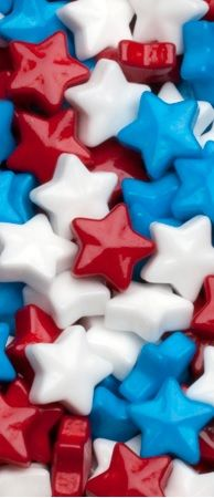 whose broad candy stripes and bright candy stars?  Ours!