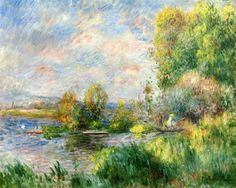 The Seine at Bougival - Pierre-Auguste Renoir / Completion Date: 1879