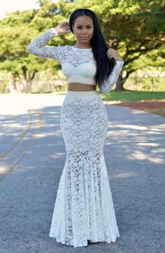 Ecstasy Models — ecstasymodels:   Gorgeous 2 piece Lace Gown ...