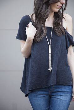 Free People Coraline Tee OB544183   new arrivals   spring 2017   boutique shopping   Colorado   fashion   style   cold shoulder   Boutique Clothing   Women's clothing   Boutique Style