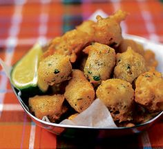 Accras - French Caribbean specialties are small cod fritters. They can also be prepared with other fish or vegetables. They are served as an appetizer or starter.