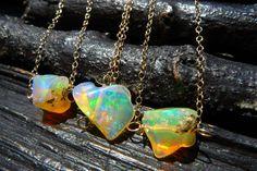 fire opal gemstone necklace
