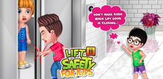Accidents can happen anytime so don't make rush when the Lift door is closing. Teach your childrens all the about in this Safety Games, Safety Tips, Free Games For Kids, Learning Games For Kids, Educational Games, Child Safety, Elevator, Best Games, Shit Happens