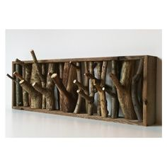 Wolf Den Tree Branch Coat Rack Wood Wall Coat Rack found