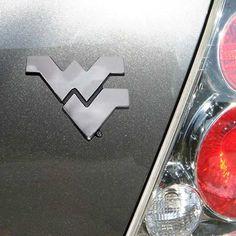 West Virginia Mountaineers Chrome Auto Emblem by Football Fanatics, http://www.amazon.com/dp/B003KFGD08/ref=cm_sw_r_pi_dp_bFL8qb0J5TMXH