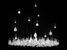 """By Nendo Primiry material/hand-blown glass clear Pendant/Dia 1000x OH 1400(mm), Dia 39,37' x OH 55.12"""""""