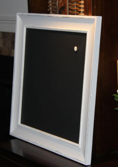 Large Square Magnetic Slightly Ornate White by PoshPilfer on Etsy, $60.00