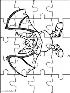 Printable jigsaw puzzles to cut out for kids Halloween 12 Coloring Pages
