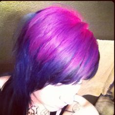 Pink to purple to blue to black :]