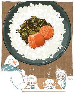 明太子と高菜漬けごはん