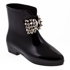 85ee4ba6dc5b17 Take a look at this Black Cowboy Rain Boot by Capelli New York on ...