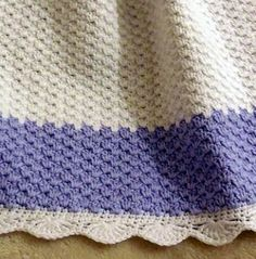 "Crochet Pattern | Baby Blanket / Afghan - Winter Frost ~ 25.5"" square ~ BEGINNER ~ great baby showr gift - use above colour (love it!) or choose another favourite~ CROCHET"