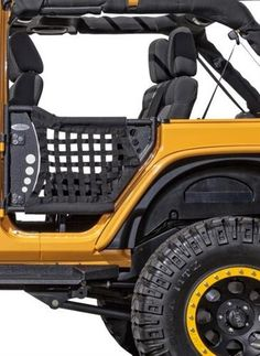 yj jeep wrangler kicker 8 inch sub and 4x6 front speakers yj body armor 4x4 rear gen iii trail doors black nylon webbing fits 2007