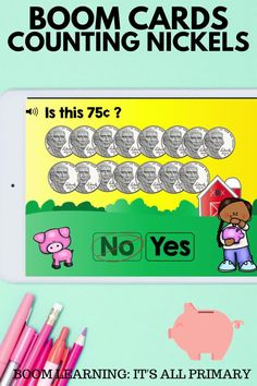 Do your students need practice with counting by 5s or counting nickels? Use these cards to give students the opportunity to build fluency with skip counting 5s. There are 5 types of questions: fill-in-the-blank, multiple choice, match the amount, is it? and drag nickels into a piggy bank. This deck is perfect for home learning, online learning or hybrid learning. Use in the class as a whole group activity or in math centres. NO PREP, SELF-GRADING! See my store for more decks!