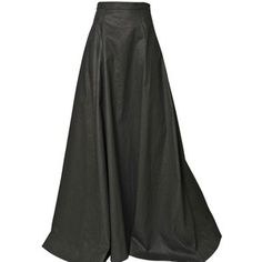 GARETH PUGH Light Waxed Cotton Long Skirt