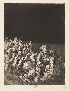 otto-dix-1924.014-CompanyResting. Otto Dix's WWI paintins are what got me interested in his work in general.