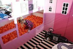 Naifandtastic:Decoración, craft, hecho a mano, restauracion muebles, casas pequeñas, boda: Una piscina de bolas en la habitación