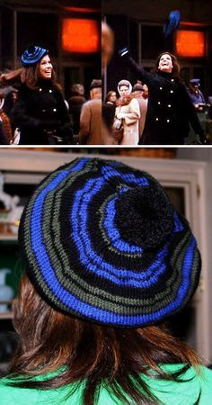 Free Knitting Pattern for MTM Tam - One of the most iconic hats of all – the hat that Mary Tyler Moore tosses into the air at the opening of her classic show – has been recreated by Stan Jestis. Dare I say it? You might just make it (this pattern) after all. Pictured project by hooknneedler