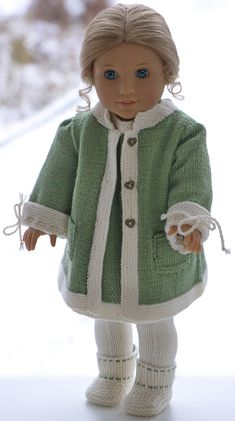 Knitting Dolls Clothes, Baby Doll Clothes, Crochet Doll Clothes, Doll Clothes Patterns, Doll Patterns, Knitting Patterns Free, Knit Patterns, Baby Knitting, Girl Dolls