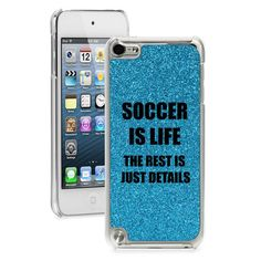 Blue GLITTER Bling Apple iPod Touch 5th 6th  Hard Case Cover Soccer Is Life | Consumer Electronics, Portable Audio & Headphones, iPod, Audio Player Accessories | eBay!