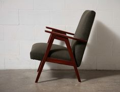 Danish Modern Lounge chair with Army Blanket Upholstery